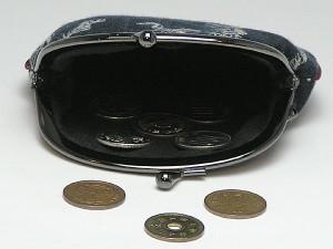 和柄がま口財布大 小銭入れ コインケース メンズレディース 日本製 和風おしゃれカジュアル かわいい 大きいサイズ便利 小物入れ(色K015)