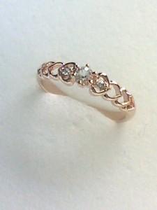 【送料無料!】♪ハートがフェミニンなリングPG指輪