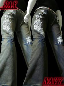 新作特売60%OFF!!お兄系厚塗りプリントジーンズ