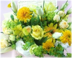 7月の誕生花★イエローアレンジ4,000円【送料無料】ネット特価!