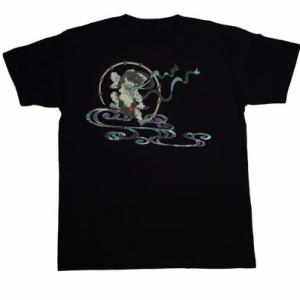 和柄むかしむかしTシャツ 雷神