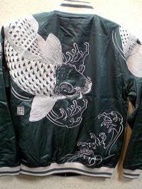 カラクリ  和柄スカジャン リバーシブル 鯉刺繍