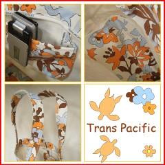 トランスパシフィック トールバケット トートバッグ フラワー&トロピカル オレンジ (Trans-pacific)