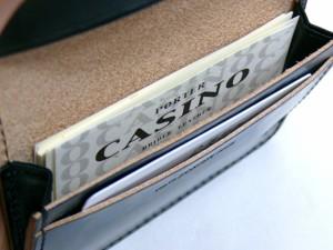 ポーター 吉田カバン CASINO カジノ イギリス製ブライドルレザー使用 カードケース ブラック 214-04623 送料無料