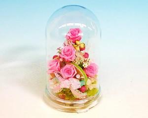 【誕生日】 【花】 プリザーブドドームLピンクローズカクテル【女性】