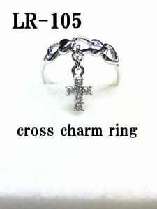 ぶらぶら☆ハートスクロールリング☆指輪/日本製(N)