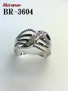 ワイヤーフレームとラインストーンで新デザイン☆スワロフキークリスタル使用リング/指輪(N)
