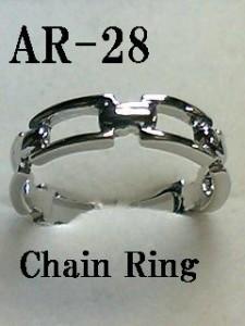 CHAIN☆ハード系チェーンデザインリング☆細身で女性でもOK。/指輪/日本製(N)