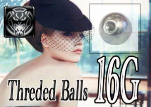 WILD CAT ボディピアス ネジ式ボール16G