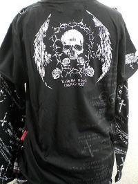 マッド フェイクレイヤード長袖Tシャツ MAD