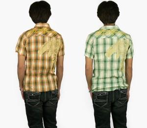 AUTHENTIC クリンクル加工チェックシャツ