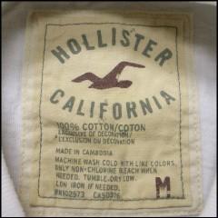 ホリスターカリフォルニア ブラックビーチ ホワイト size M (HOLLISTER CALIFORNIA BLACKS BEACH)