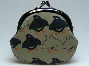【和柄がま口財布】和柄がま口財布大。大きいサイズが便利です。(色K011)