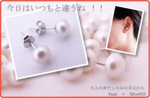 【メール便送料無料!!】全3色☆真珠ピアス淡水パール6mmchp-pear