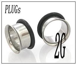 ボディピアス シングルフレア PLUGSジュエリー(2G)