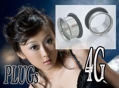 ボディピアス シングルフレア PLUGSジュエリー(4G)