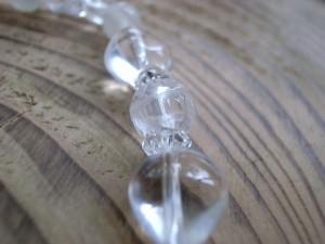4月誕生石 蓮の花水晶&ハートブレス8mm