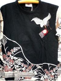 INFINITY インフィニティ 和柄 長袖Tシャツ 水...