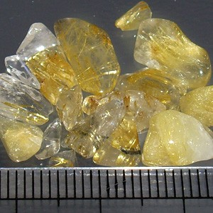 【パワーストーンブレスレットの力を回復・浄化に】 天然石さざれ石 ルチルクォーツ 100g 金針水晶