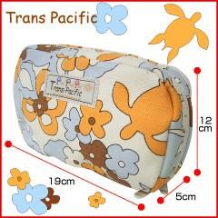 トランスパシフィック ポーチ フラワー&トロピカル オレンジ (Trans-pacific)
