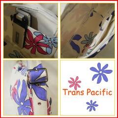 トランスパシフィック ハーフムーン ショルダーバッグ ビックフラワー ホワイト (Trans-pacific)
