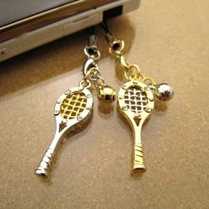ファンタジアスポーツ携帯ストラップ/テニスラケット