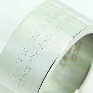 ★刻印リング 太め [9号] ステンレスリング ペアリング ピンキーリング メンズ レディース ペア 指輪 【SR15】
