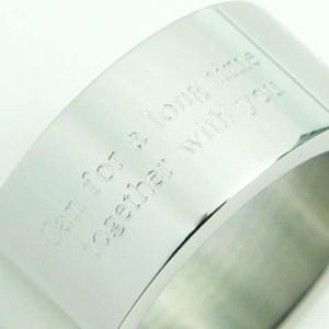 ★刻印リング 太め [7号] ステンレスリング ペアリング ピンキーリング メンズ レディース ペア 指輪 【SR13】