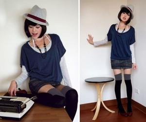 ¥500円 【全4色】ニーハイ ソックス デザインストッキングと重ね履きにも♪
