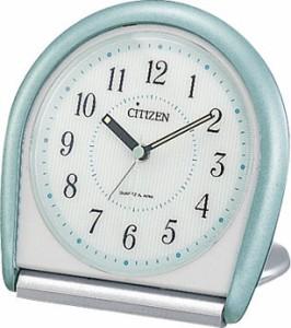リズム時計[シチズン]携帯用目覚まし時計アブロード958 4GE958-005 緑メタリック色(白) アナログ ラッピング無料