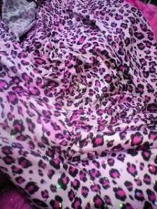 ピンク豹☆キラキラスリットシャーリングベアドレス