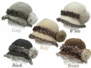 帽子 手編み ハット レディース ニット 帽子 おばあちゃん 敬老の日 プレゼント