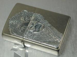 ジッポーZippo ライオンLionメタル天然ダイヤ銀B