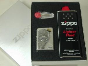 ジッポーZippo ライオンLionメタル天然ダイヤ銀A
