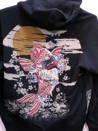 華鳥風月 パーカー 鯉