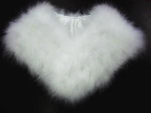 振袖成人式&卒業式袴に 定番の羽毛ショール(フェザーショール)白