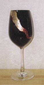 ☆蒔絵グラス♪ワイングラス 黒 《稲妻》☆誕生祝・結婚祝・還暦祝のプレゼントに最適♪