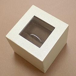 リングケース【ブラウン】ウィンドウ付きジュエリーケース 化粧箱付き