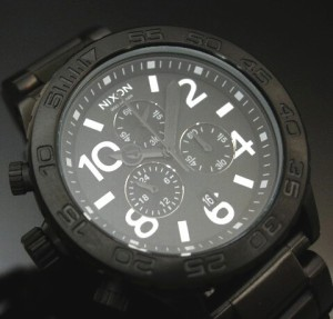 【NIXON/ニクソン】THE42-20 クロノ ALL BLACK A037001