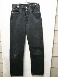 USED Levi's 501 black jeans W29L32.5 [00501]