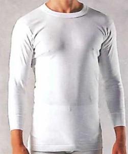 BVD DELUXE エアロカプセル3層構造丸首9分袖シャツ