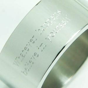 ★刻印リング 太め [1号] ステンレスリング ペアリング ピンキーリング メンズ レディース ペア 指輪 【SR18】