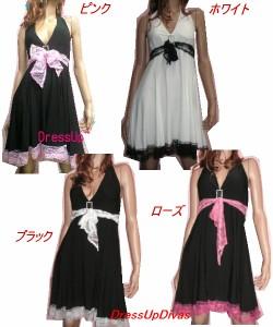 Rastars☆姫系☆レースリボンフリルドレスワンピ,大きいサイズ,ストレッチ