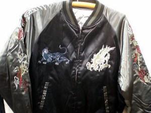 スカジャン 日本製本格刺繍のスカジャン3L 龍と黒豹