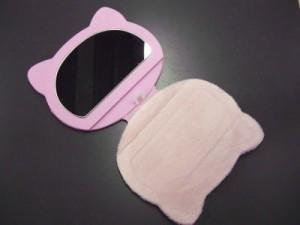 和×キティちゃんコラボ♪ちりめんフェイス立て鏡ピンク