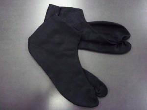 粋なメンズ男物男性黒朱子足袋4枚こはぜ(25.0〜28.0)  着物きもの黒足袋
