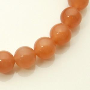 送料無料 8mm 18cm オレンジムーンストーンブレスレット (レディースLサイズ)/天然石/パワーストーン/6月/誕生石