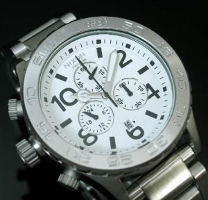 【NIXON/ニクソン】THE42-20 クロノ WHITE A037100