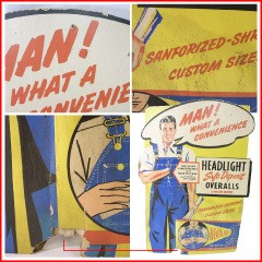 VINTAGE HEAD LIGHT Signboard 1940S ヴィンテージ ヘッドライト 広告用サインボード