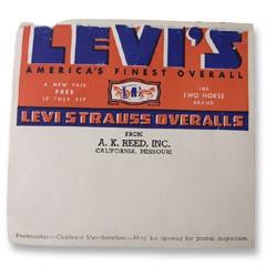 VINTAGE LEVI'S Label 1930S ヴィンテージ リーバイス 出荷用ラベル